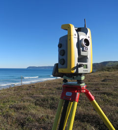 Surveying new project on Great Ocean Road